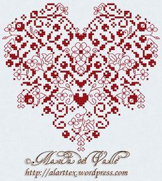 San Valentin 2011; from France; English translation; PDF format; beautiful pattern with DMC color key.