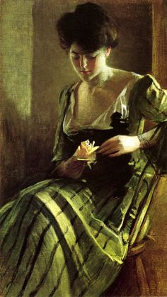 A Rose  John White Alexander (1856 – 1915)