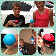 Kendama...all the craze on Kauai right now :)  My boys think these look cool.