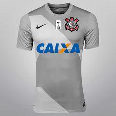 Camisa Nike Corinthians III 12/13 s/nº - c/ Patrocínio - Shoptimão