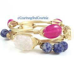 Love!!  #wirewrappedbangles #stacks #doyoubangle  #wirejewelry #handmadejewelry  #armcandy #fashion #wraps #druzy #jewelry #bracelets #fashionjewelry #accessories #bangles