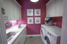 """Figure out additional relevant information on """"laundry room storage diy cabinets"""". Have a look at our web site. Laundry Room Colors, Pink Laundry Rooms, Laundry Room Organization, Laundry Storage, Small Storage, Closet Storage, Diy Storage, Storage Ideas, Storage Shelves"""