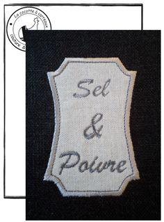 Je vous propose aujourd'hui cette étiquette sel & poivre à réaliser avec la technique de l'appliqué. link Bon jeudi & bonne broderie.