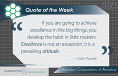 Quote of the Week ~ Colin Powell ~ Inspiration ~ Excellence