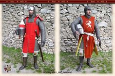 Medieval Knight, Medieval Armor, High Middle Ages, Costume Patterns, 12th Century, Larp, Warfare, Armour, Empire