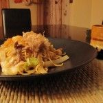 Yakisoba - we used udon noodles instead of soba, but this was delicious.  Will totally make it again!