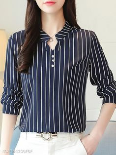 Blouses for women – Lady Dress Designs Blouse Styles, Blouse Designs, Short Tops, Blouses For Women, Women's Blouses, Long Sleeve Blouses, Fashion Outfits, Womens Fashion, Clothes Uk