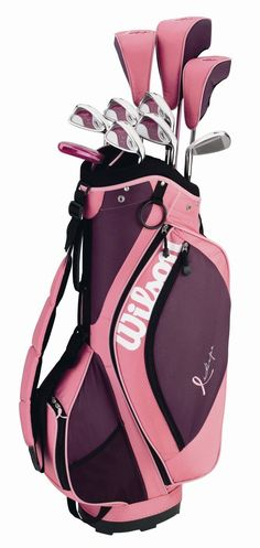 Who wouldn't want pink golf clubs?