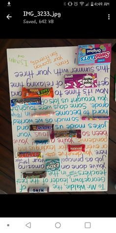 Candy Bar Posters, End Of School Year, Bullet Journal