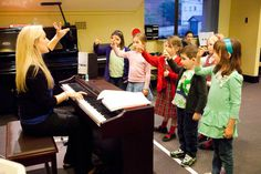 Junior Piano Class (Age 4-6) doing their solfege set