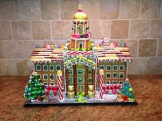Pat Neff looks good in gingerbread! This was a fun gingerbread house to create this year! #sicem #baylorproud