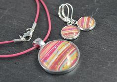 Glas Schmucksets - Schmuckset aus Kette & Ohrringen - ein Designerstück von colorful-daydreams bei DaWanda