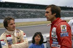 1980, Hockenheim - Gilles, Joanna Villeneuve and Carlos Reutemann.