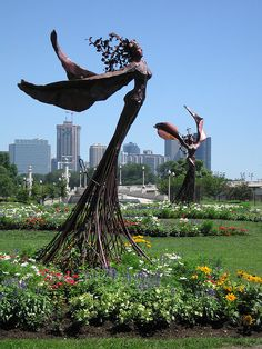 Daphne Garden by JasonCross-I would love a smaller version of this sculpture for my garden to grow a flowering vine.