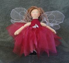 Fairy Doll  Red Faerie Art Doll  One of a kind by JoellesDolls, $40.00