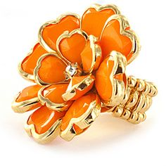 Mango color stretch ring.