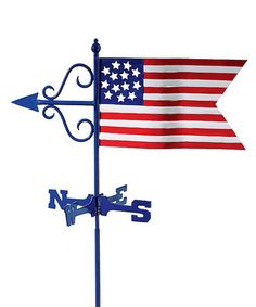 Take a look at this American Flag Weathervane by Backyard Oasis Boutique on #zulily today!