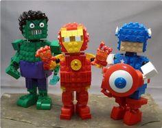 Chibi-Avengers group shot | ReBrick | From LEGO Fan To LEGO Fan