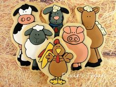 Image result for farm animal cookie cake