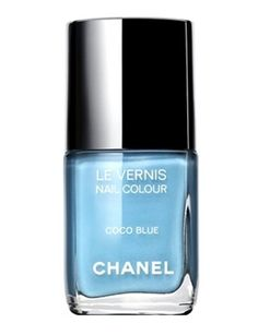 """The best thank you gift: Chanel nail polish in """"Coco"""" blue.  Love this new color!"""