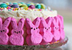 Easter bunny cake, Bunny cake, Easter cakes, Easter dessert, Cake, Vanilla cake mixes - Easy to assemble Easter Bunny Cake for your Easter! - #Easterbunny #cake Easy Easter Desserts, Easter Treats, Easter Recipes, Moist Vanilla Cake, Vanilla Cake Mixes, Double Layer Cake, Marshmallow Bunny, Easter Bunny Cake, Confetti Cake