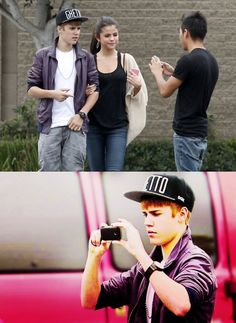 This cracks me up!<3 poor Justin! :( that guy would rather take a pic with Selena....