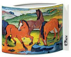 """Porzellanvase """"Weidende Pferde"""" (1911), Motiv von Franz Marc - Hannover - Porzellanmalerei › Kunstplaza"""