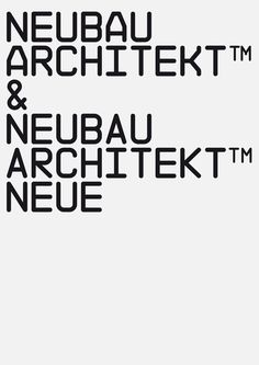 NB Architekt™ & NB Architekt Neue™, 2015 EditionMonospace (Note: Originally released as 'NB 55RMS' in 2002)NB Architekt™ pays tribute to typefaces used on architectural Construction plans during the 'Letraset' era. The typeface is a classic modern mono…