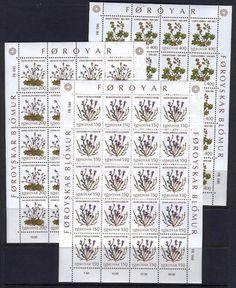 Faroe C35 MNH 1980 M/S Plants field flowers 5 pcs of 20 stamps CV 70 eur