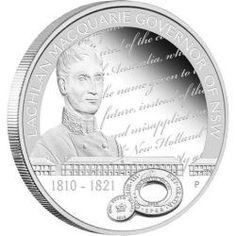 Lachlan Macquarie Governor of NSW 1810 - 1821 1oz Silver Pro