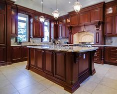 Large Traditional Home with Heavily Detailed Cabinetry ...