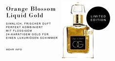Organic Galm Orange Blossom Liquid Gold Limited Edition: Sinnlich frischer Duft kombiniert mit 24-karätigem Gold für luxuriösen Schimmer auf Haut & Haaren. Our Love, Money Clip, Orange, Gold, Money Clips