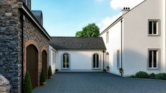 Traditional Randalstown House from Architects Slemish Design Studio. specialising in modern & traditional architecture along with commercial architecture. Commercial Architecture, Architect House, Modern Traditional, New Builds, Home Builders, Building A House, Farmhouse Contemporary, House Plans, Farmhouse Renovation