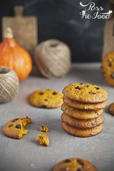 Pass the Food: Pumpkin chocolate chip cookies