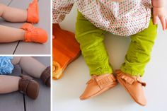 Fall Trend Alert: Fringed Moccasins! Baby moccasins are perfect for pre-walkers and help with stability for those learning how to walk. Toddlers will also enjoy them as they jump, skip, run, and walk comfortably. The elastic around the ankle opening will make sure that they stay on!