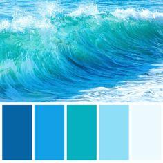 Beach Color Palettes, Color Schemes Colour Palettes, Blue Colour Palette, Beach Color Schemes, Ocean Colors, Colours, Coastal Colors, Pantone Azul, Palette Design