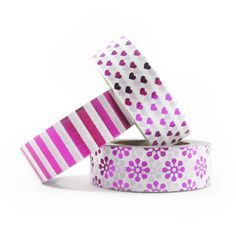 Set washi tape foil rosa