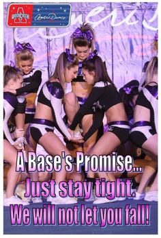 A Bases Promise. Just stay tight - Anabel Lopez - Photo Cheer Base, All Star Cheer, Cheer Mom, Cheer Tips, Cheer Qoutes, Cheerleading Quotes, Competitive Cheerleading, Cheer Sayings, Cheerleading Workouts