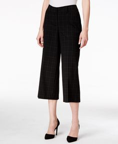 Style & Co. Plaid Culottes, Only at Macy's