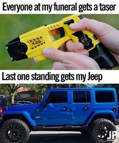 Last one standing gets my JEEP! Crazy Funny Memes, Really Funny Memes, Stupid Funny Memes, Funny Laugh, Funny Relatable Memes, Funny Texts, Funny Stuff, Hilarious, Jeep Jokes