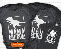 Mamasaurus Shirt, Matching Dinosaur Birthday Shirt, Family Saurus Tshirt, Mom Dinosaur Shirt, Baby A Winter Baby Clothes, Baby Winter, Cute Baby Clothes, 4th Baby Announcement, Baby Announcements, Baby Items List, Dinosaur Birthday, Dinosaur Party, 3rd Birthday