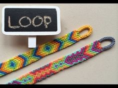 Easy beginning LOOP for friendship bracelets - YouTube
