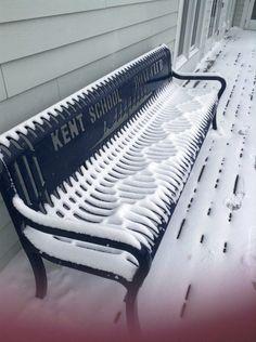 Y lo artística que es esta nieve.   32 Imágenes que te harán sentir una enorme satisfacción