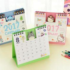 2017 Cute Cartoon Characters Panda Totoro 3D Desktop Paper Calendar dual Daily Scheduler Table Planner Yearly Agenda Organizer