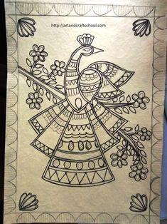 Madhubani peacock design