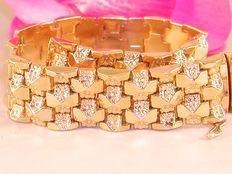 18K yellow gold cleopatra bracelet ca. 1930-1940