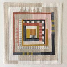 Log cabin mini quilt, complete. via ✨ @padgram ✨(http://dl.padgram.com)