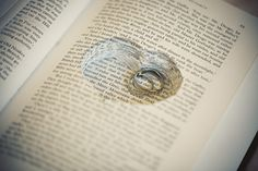 Used an old book to hold the rings, so creative