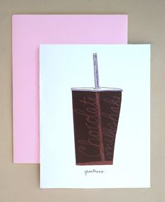 chocolate milkshake cards by hello hello design on etsy!
