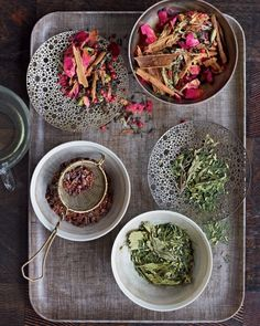 Make Your Own Tea Blends | via Martha Stewart Whole Living  |  {click through article for recipes}